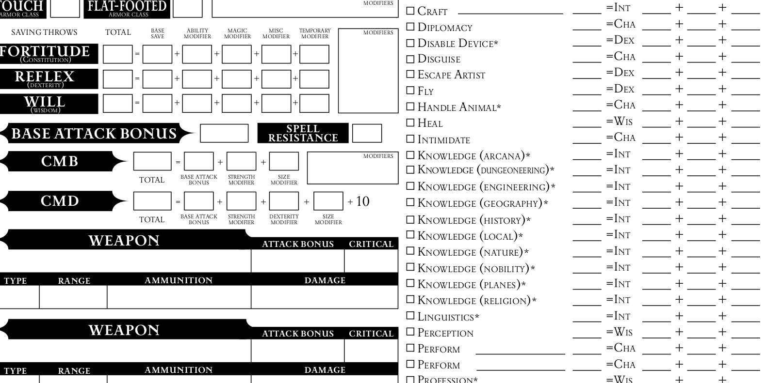 photo about Pathfinder Printable Spell List referred to as Pathfinder 5e Personality Sheet Combined Indications